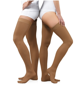 Medical Compression Stockings with toe cap with silicone waistban